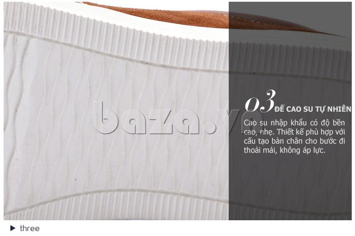 Giày nam da lộn CDD 1308 làm từ cao su cao cấp cho phần đế