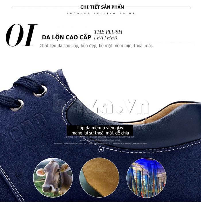 Giày nam da lộn CDD 1308 chất liệu da lộn cao cấp