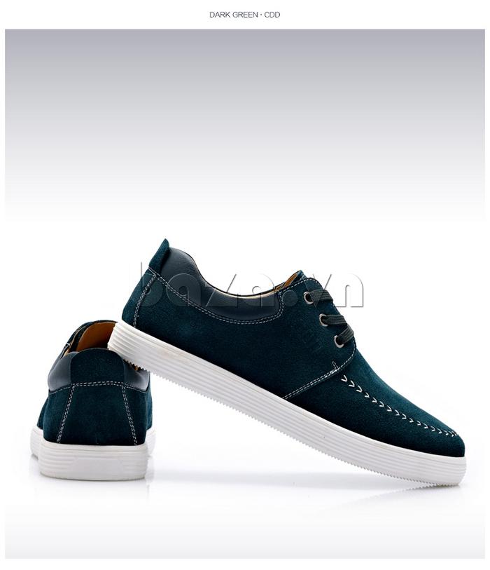 Giày nam da lộn CDD 1308 màu lục trẻ trung