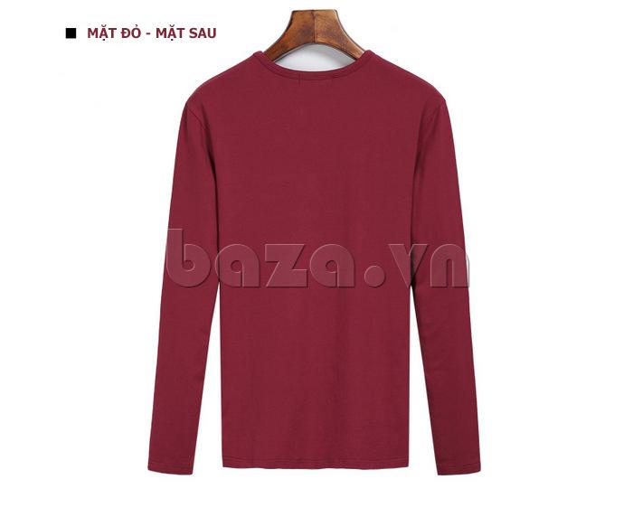 Áo len nam No1Dara TXN43511 màu đỏ mặt sau