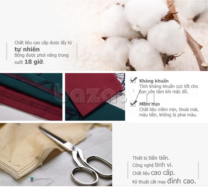 Áo len nam No1Dara TXN43511 chất liệu sợi bông cotton tự nhiên mềm mịn
