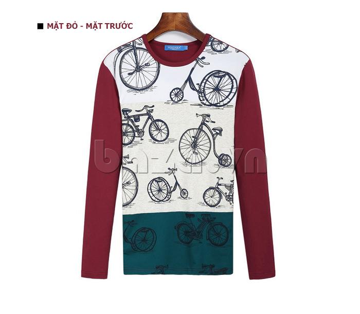 Áo len nam No1Dara TXN43511 màu đỏ mặt trước