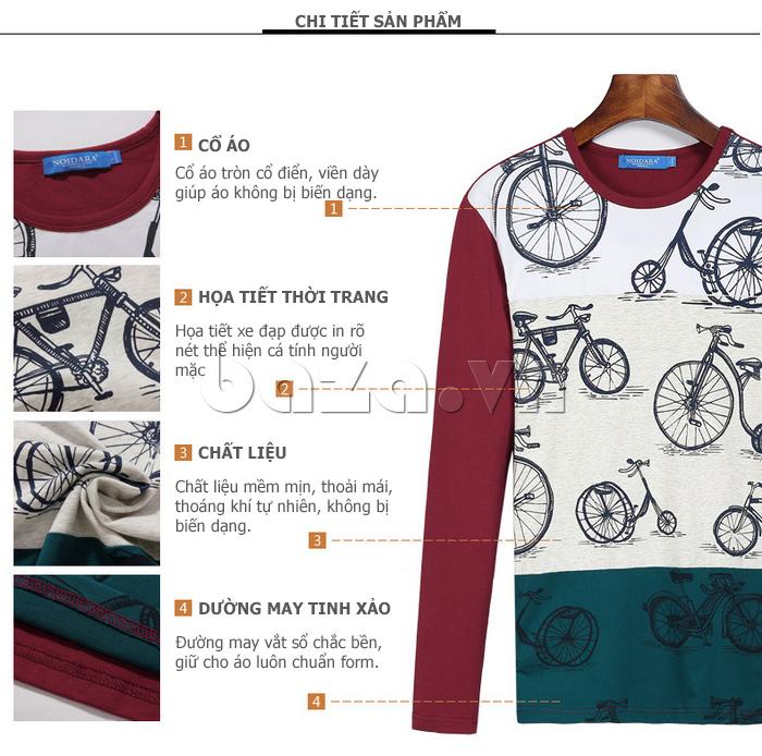 Áo len nam No1Dara TXN43511 in họa tiết xe đẹp thời trang, nổi bật