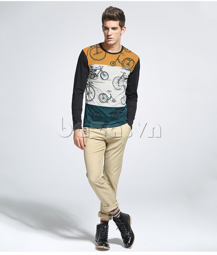 Màu sắc Áo len nam No1Dara TXN43511 phối hợp nổi bật, đẹp mắt