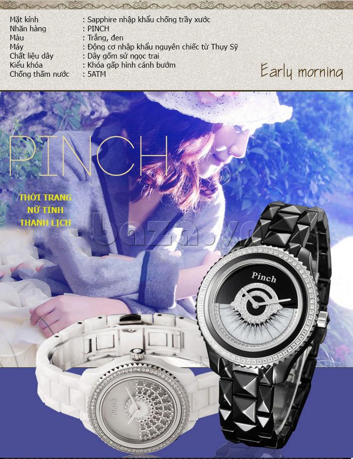 """Đồng hồ nữ """" Đồng hồ thời trang Pinch 1882H """" nữ tính và thanh lịch"""
