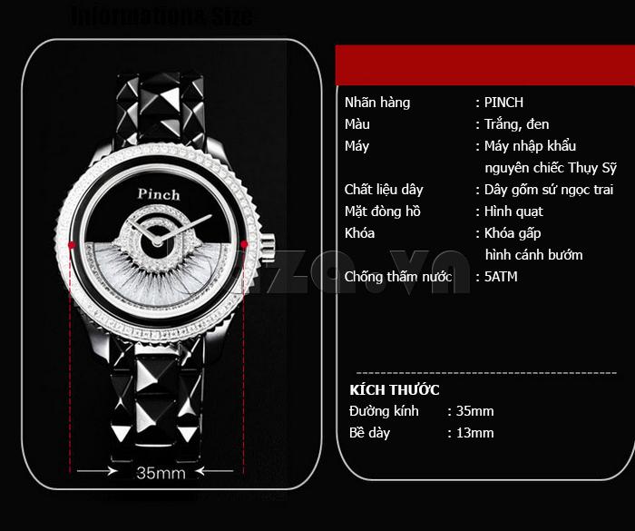 """Đồng hồ nữ """" Đồng hồ thời trang Pinch 1882H """" đẳng cấp và sành điệu"""
