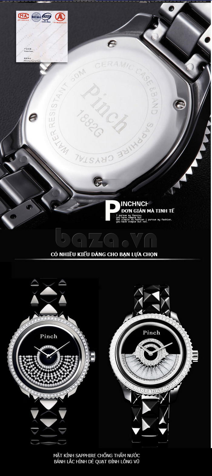 """Đồng hồ nữ """" Đồng hồ thời trang Pinch 1882H """" đơn giản mà tinh tế"""