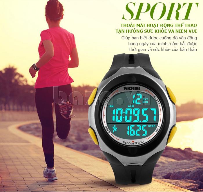 Đồng hồ thể thao nam Pedometer 3D Skmei 1107 chất lượng
