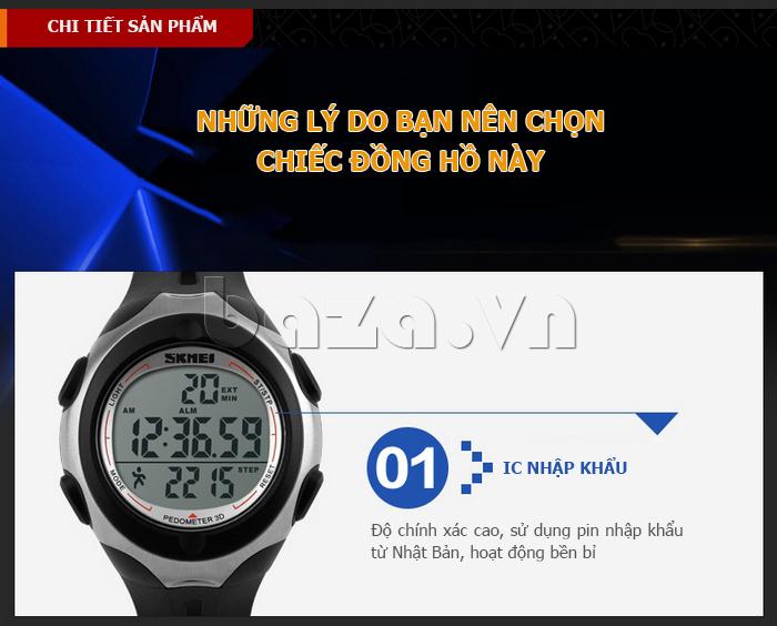 Đồng hồ thể thao nam Pedometer 3D Skmei 1107 - độ bền cao