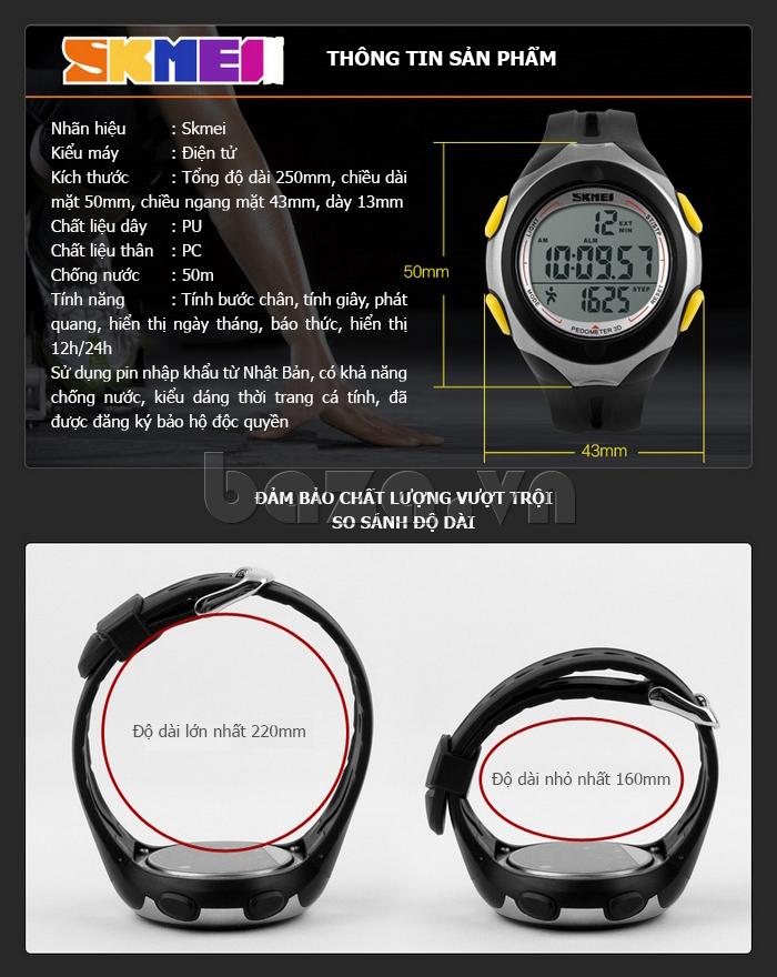 Đồng hồ thể thao nam Pedometer 3D Skmei 1107 - chất lượng vượt trội