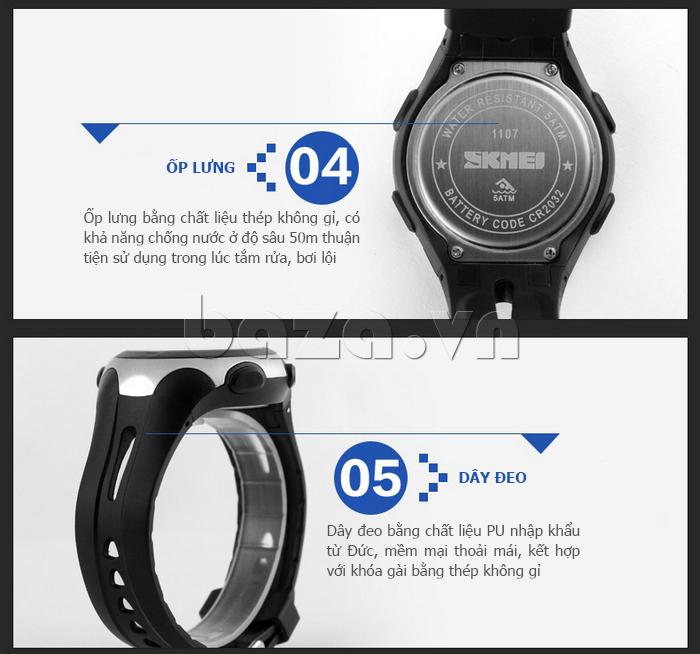 Đồng hồ thể thao nam Pedometer 3D Skmei 1107 cá tính