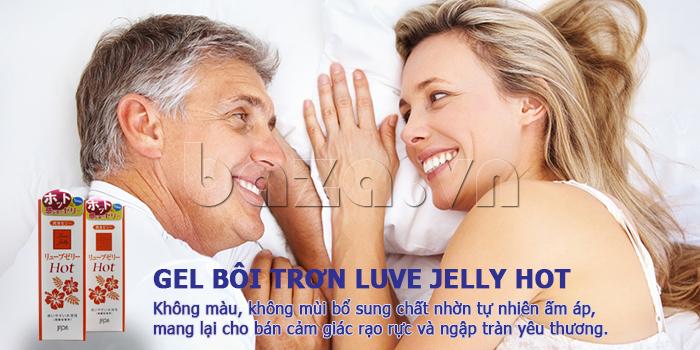 Gel bôi trơn Luve Jelly Hot không mùi  cao cấp