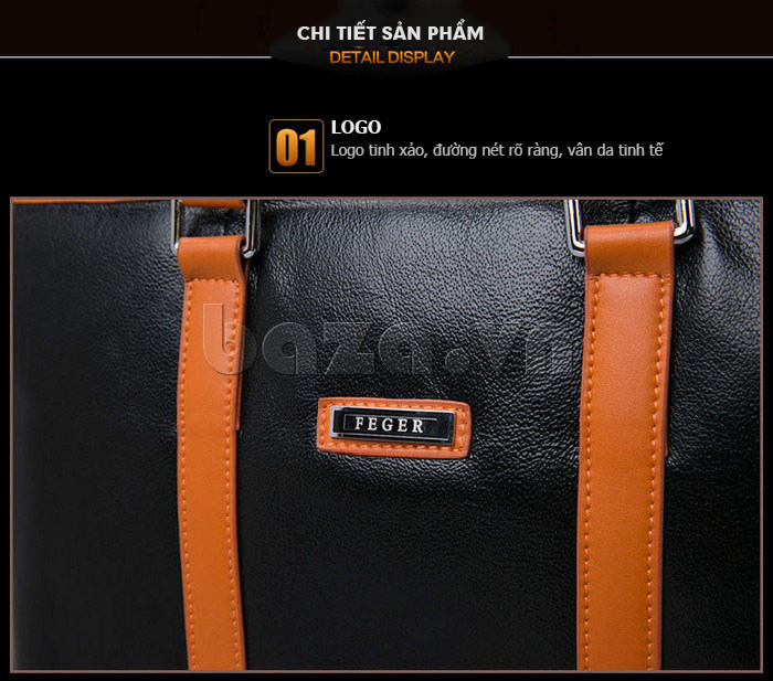 Túi da nam Feger 634-3 cần thiết