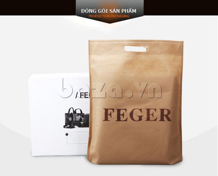 Túi da nam Feger 634-3 túi da hoàn hảo và đẹp