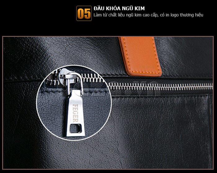 Túi da nam Feger 634-3 màu sắc hài hòa