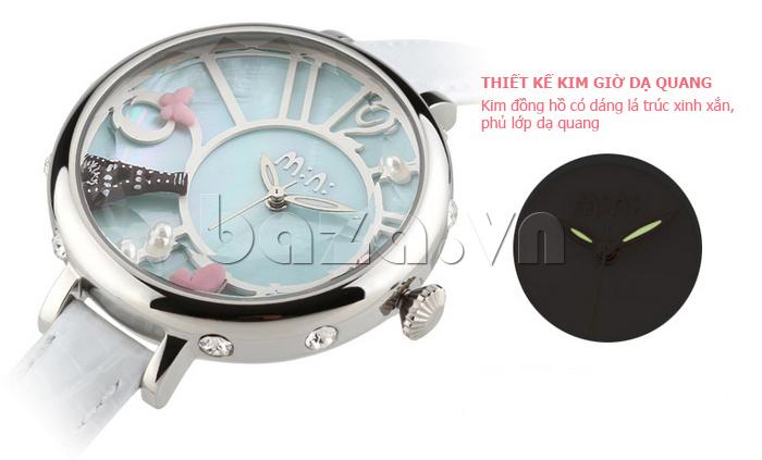 Đồng hồ nữ Mini MN991 tháp Eiffel mũi kim dạ quang