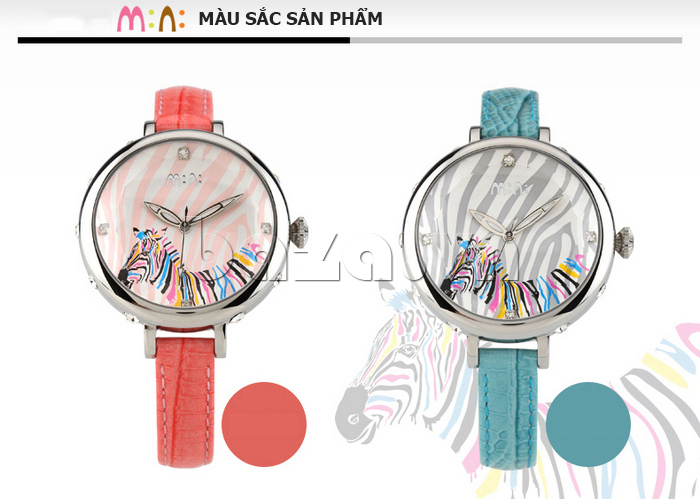 Đồng hồ nữ Mini MN991 tháp Eiffel logo thương hiệu rõ nét