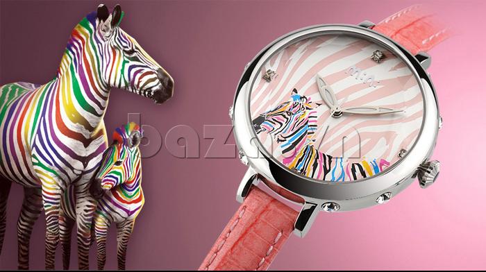Đồng hồ nữ Mini MN991 tháp Eiffel màu sắc đa dạng