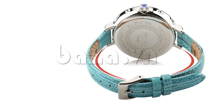Đồng hồ nữ Mini MN991 tháp Eiffel dây da xanh đẹp mắt