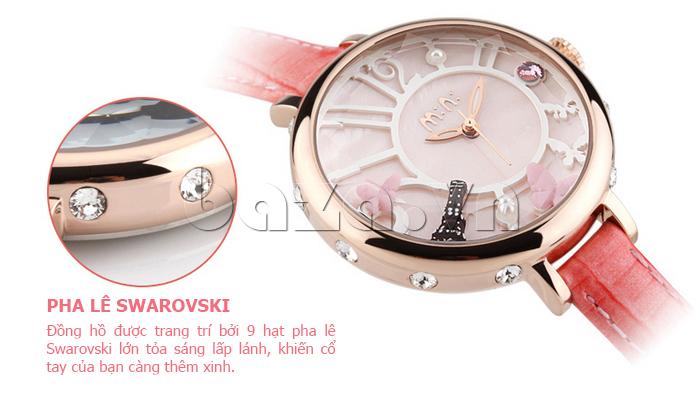 Đồng hồ nữ Mini MN991 tháp Eiffel pha lê đẹp