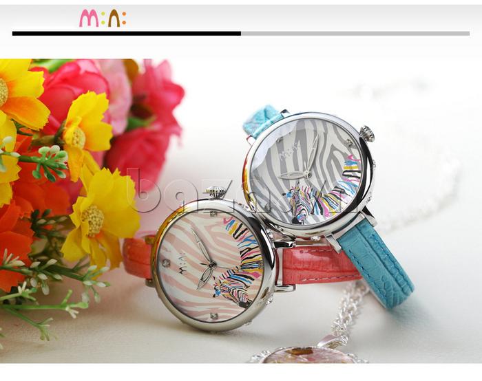 Đồng hồ nữ Mini MN991 tháp Eiffel núm điều chỉnh dễ dàng