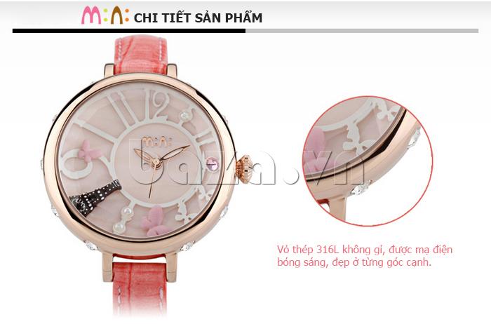 Đồng hồ nữ Mini MN991 tháp Eiffel màu sắc đẹp