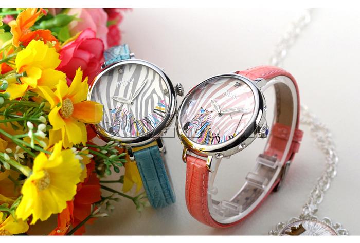Đồng hồ nữ Mini MN991 tháp Eiffel dây da màu đẹp, mềm mại
