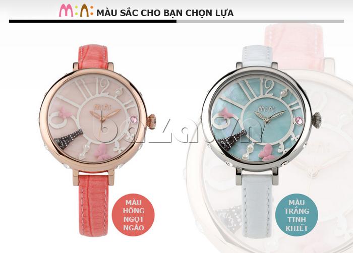 Đồng hồ nữ Mini MN991 tháp Eiffel nhiều màu sắc
