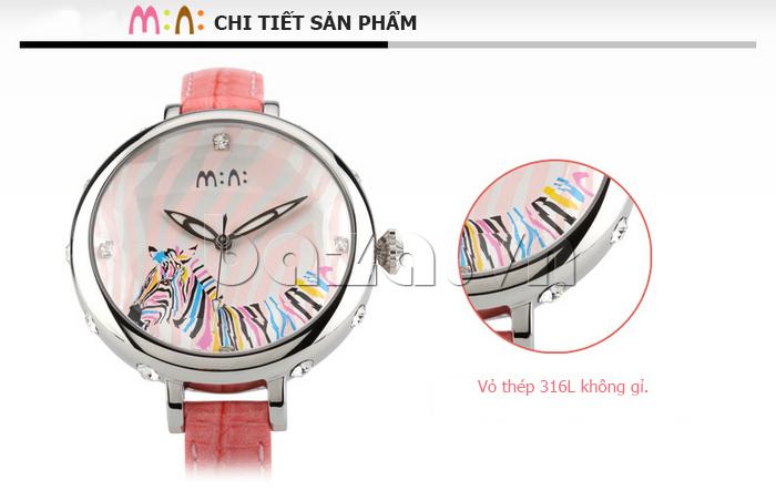 Đồng hồ nữ Mini MN991 tháp Eiffel vỏ thép 316L chống gỉ