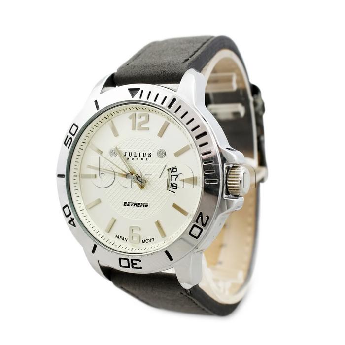 Đồng hồ nam mặt tròn Julius Home JAH-009 phong cách nổi bật
