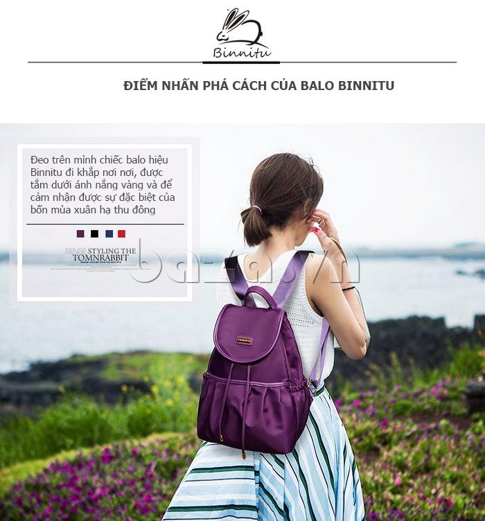 Balo nữ phong cách Hàn Quốc Binnitu WG7728
