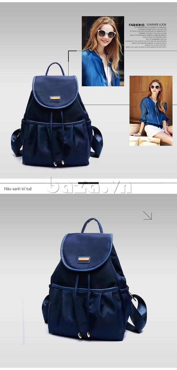 Balo nữ  Hàn Quốc Binnitu WG7728 màu xanh