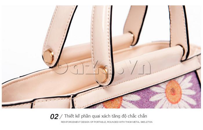 Túi xách nữ hoa hướng dương Binnitu 12253 thiết kế đầy nổi bật