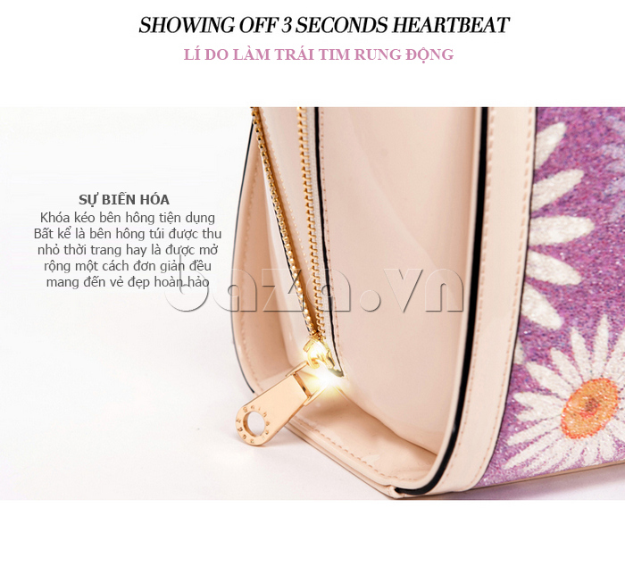 Túi xách nữ hoa hướng dương Binnitu 12253 tinh tế