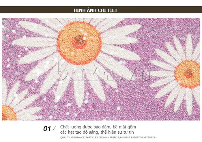 Túi xách nữ hoa hướng dương Binnitu 12253 nạm đinh
