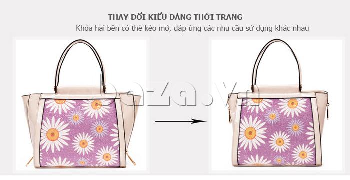 Túi xách nữ hoa hướng dương Binnitu 12253 thời trang