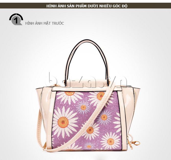 Túi xách nữ hoa hướng dương Binnitu 12253 túi in hoa