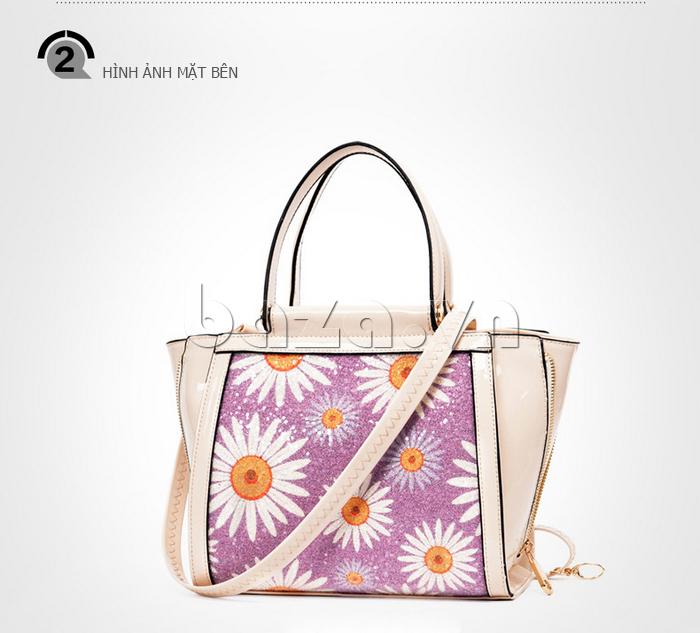 Túi xách nữ hoa hướng dương Binnitu 12253 túi in họa tiết