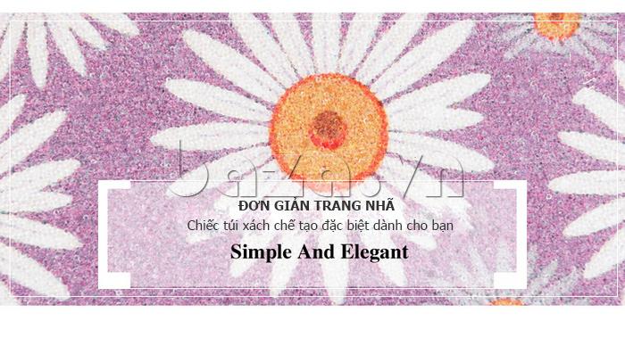 Túi xách nữ hoa hướng dương Binnitu 12253 hoàn hảo