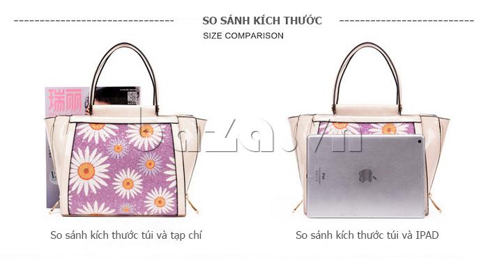 Túi xách nữ hoa hướng dương Binnitu 12253 họa tiết hoa