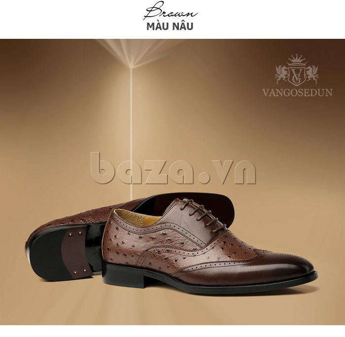 Giày da nam VANGOSEDUN VG78801  họa tiết quyến rũ
