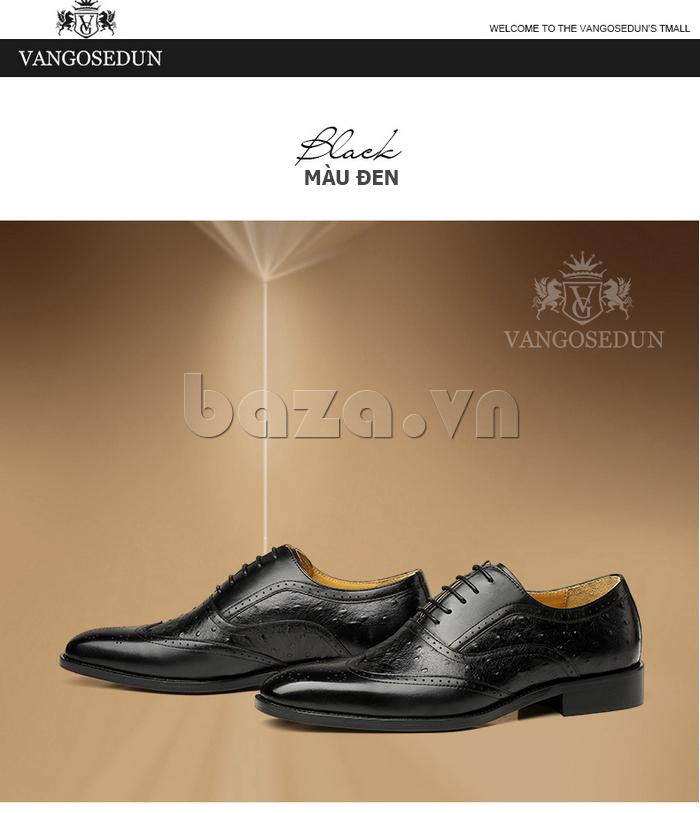 màu đen của Giày da nam VANGOSEDUN VG78801  sang trọng
