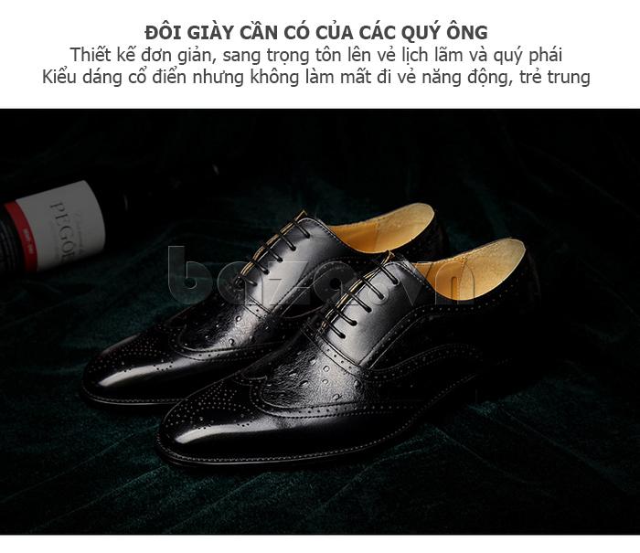 Giày da nam VANGOSEDUN VG78801  là đôi giày cần có cho các quý ông