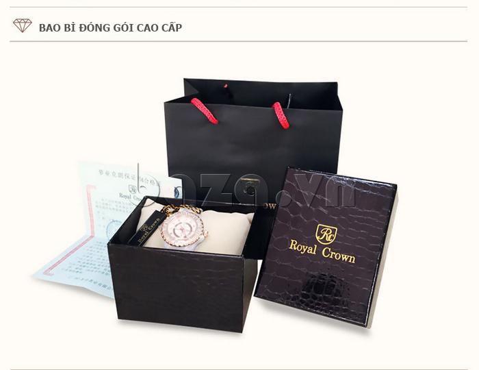Hộp đựng của Đồng hồ thời trang mặt tròn gốm sứ Royal Crown 6412