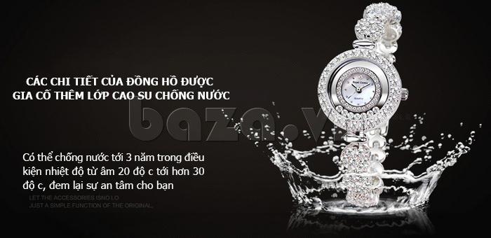 Đồng hồ thời trang mặt tròn gốm sứ Royal Crown 6412  - chống nước ưu việt