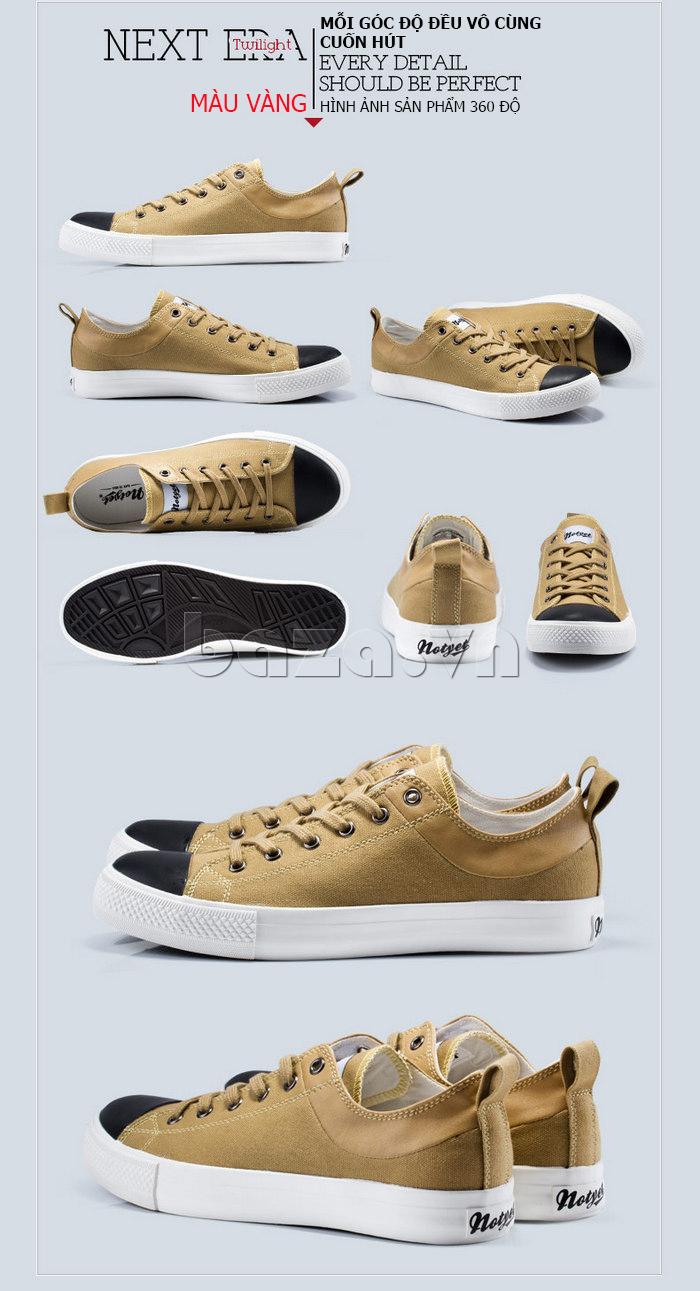 Giày vải nam Notyet NY-LD3204 màu vàng trẻ trung