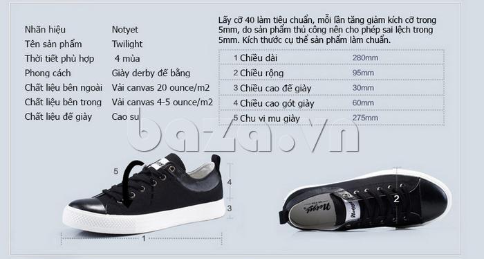 thông tin của Giày vải nam Notyet NY-LD3204