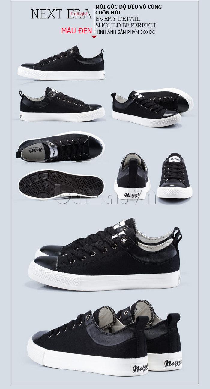 Giày vải nam Notyet NY-LD3204 màu đen năng động