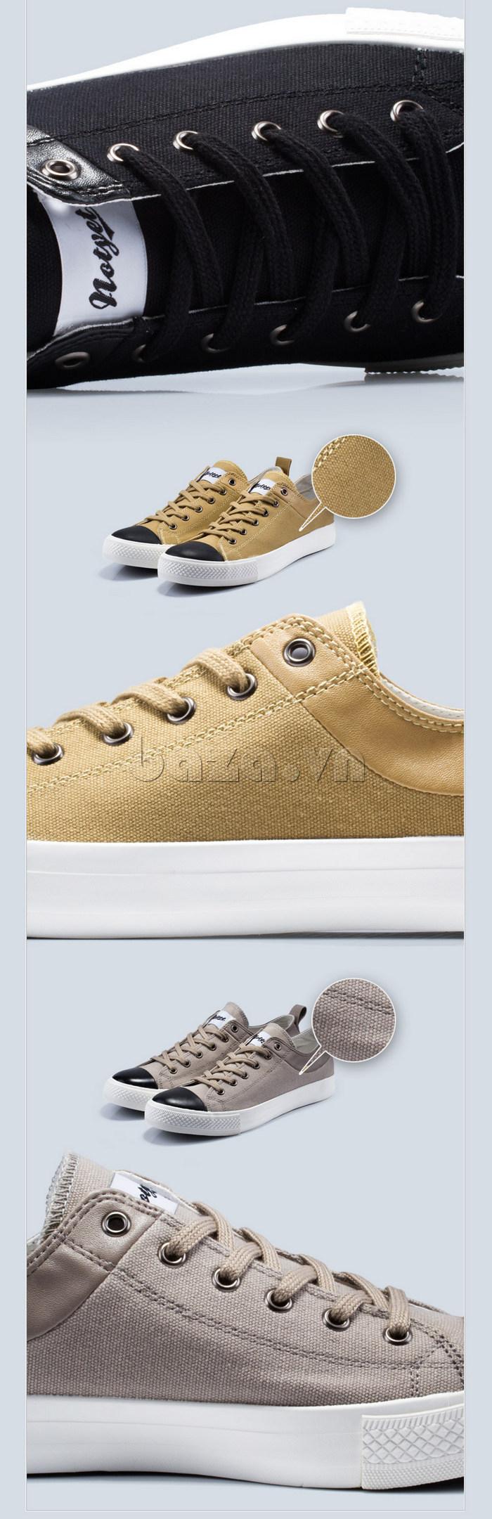 Dây giày của Giày vải nam Notyet NY-LD3204 được chế tác tỉ mỉ