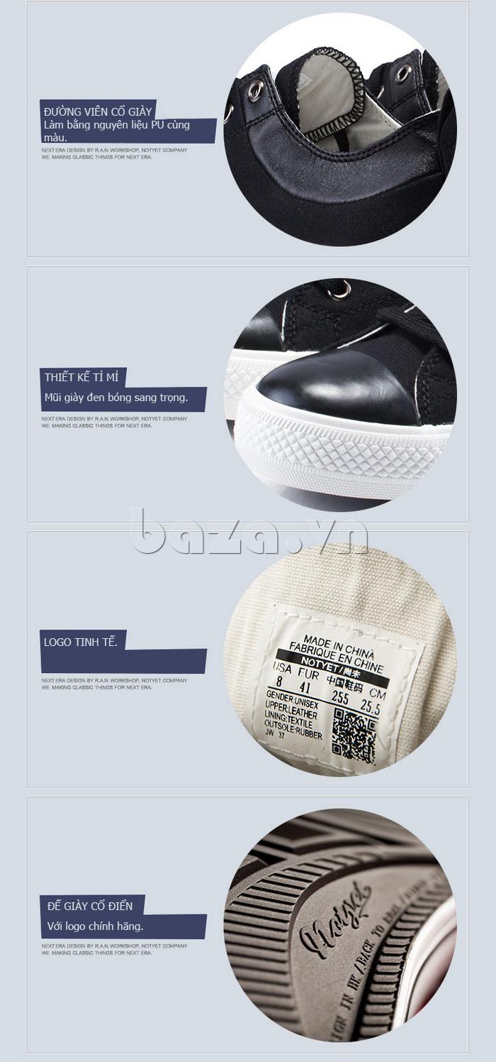 Giày vải nam Notyet NY-LD3204 được thiết kế tỉ mỉ